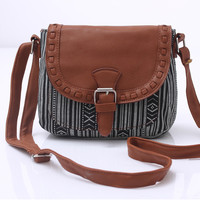 Vintage Canvas Aztec Ethnic Crossbody Shoulder Bag