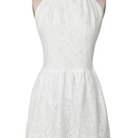 Cupshe Fluffy Cloud White Lace Dress