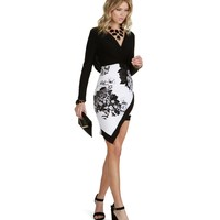 Black Style and Poise Floral Dress
