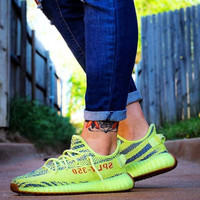 "Adidas Yeezy Boost 350 V2 ""Semi Frozen Yellow"" Running Shoes- Best Deal Online"