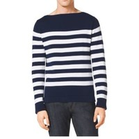 Striped Cotton and Cashmere Boatneck Sweater | Michael Kors