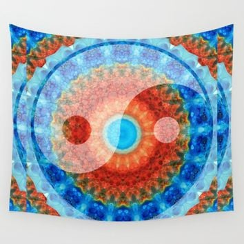 Chinese Symbol Art - Ideal Balance Yin and Yang by Sharon Cummings Wall Tapestry by Sharon Cummings