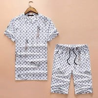 Boys & Men Louis Vuitton Shirt Top Tee Shorts Set Two-Piece