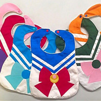 NEW  Sailor Moon Baby Bib - Baby Shower gift - Cosplay