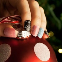Ugly Christmas Sweater Nail Art Stickers