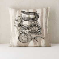 Embroidered Snake Pillow - Urban Outfitters