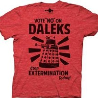 Doctor Who - Vote No On Daleks T-Shirt Size L