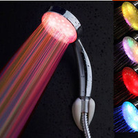 7 Color LED Light Water Bath Home Bathroom Wall Mount LED Handheld Shower Heads