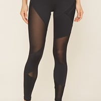 Active Mesh-Insert Leggings | Forever 21 - 2000223575