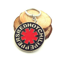 Red Hot Chili Peppers Logo Red Metal Keychain