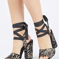 RIOJA Embroidered Sandals - Heels - Shoes