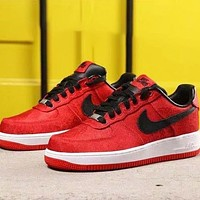 Nike Air Force 1 Air Force 1 Low New fashion hook couple shoes Red