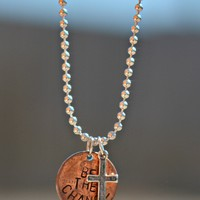Be The Change Penny Necklace w/ Cross