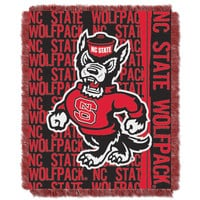 NC State College 48x60 Triple Woven Jacquard Throw - Double Play Series