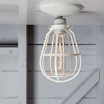 Modern Cage Light - Ceiling Mount