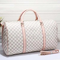 Louis Vuitton Leather Travel Bag