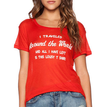 Wildfox Couture Around The World Tee in Red