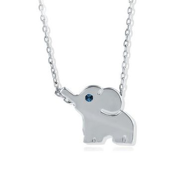 18k Silver Plated Elephant Cute Necklace Mini Elephant Pendant Special Gift Jewelry