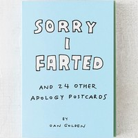 Sorry I Farted and 24 Other Apology Postcards By Knock Knock   Urban Outfitters