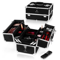 SHANY Cosmetics Black Diva Premium Makeup Train Case with Dividers