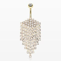 Shimmering Golden Array Belly Button Ring