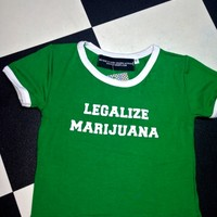 SWEET LORD O'MIGHTY! LEGALIZE MARIJUANA RINGER TEE