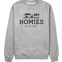 Reason Clothing   | Tops    | Reason 'Homies' Crewneck - Heather/Black