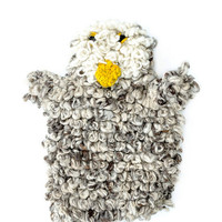 Hand Knit Storytime Owl Puppet