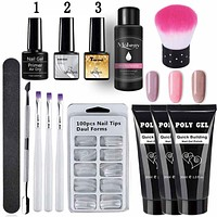 Poly Gel Tubes And Kits  LED Clear UV Gel Varnish Nail Polish