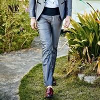 Autumn Silver Casual Pants Slim England Style Blazer Pants [7951200387]