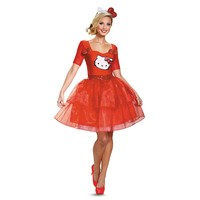 Hello Kitty Costume - Adult (Red)