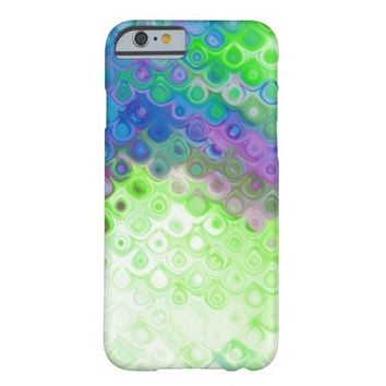 Blue, Green, Purple Tear Drop Metal Effect Barely There iPhone 6 Case