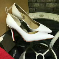 KUYOU Christian Louboutin red sole classic rivet Roller Boat CL with masonry high top sneakers 90514