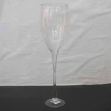 Clear Glass Tall Champagne Vase Wedding Centerpiece, 23-Inch