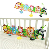 Baby Bed Bumper Carton Baby Bedding Set 0-24 Month Soft Fun Colorful Crib Bumper Toys For Children Kids Cloth Book Ruffle Indoor