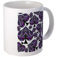 Whiteout Crazy Spades Collage Mugs