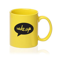 Wake Up  Talking Mug  Yellow  Gift for by simplyprettyprints