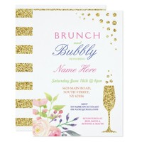 Brunch & Bubbly Bridal Shower Sweet Floral Invite