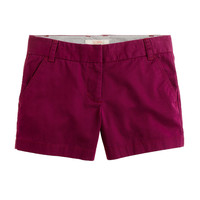 J. Crew Wine Colored Chino Shorts, Size 4