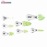 Amazing leaves Nozzle Icing Piping leaf Tips Korea Stainless Steel Pastry Cake Decoration Tools for the Kitchen Baking Russian