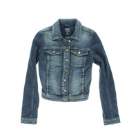 Guess Womens Collared Long Sleeves Denim Jacket