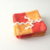 Cute Orange Tie Dye Coasters Hand Made Set of 6