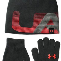 Under Armour Boys' Knit Beanie and Glove Combo