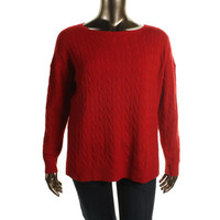Polo Ralph Lauren Womens Cashmere Cable Knit Pullover Sweater