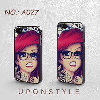 iPhone 4 Case, iPhone 4S Case, iPhone 5 Case, Tattooed Ariel, Disney case, Phone Cases, Phone Covers, Skins, Case for iphone, Case No-027