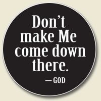 Don't Make Me Come Down There Absorbent Stone Auto Car Cup Holder Coaster