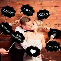DIY Photo Booth Prop Wedding Party Black Card Board Chalkboard Stick = 1933049988