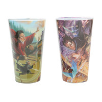 Harry Potter Book Art Pint Glass Set