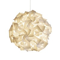 Deluxe Squares Hanging Pendant Light - Warm white glow