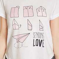 Paper Airplane PJ Set | Forever 21 - 2000153947